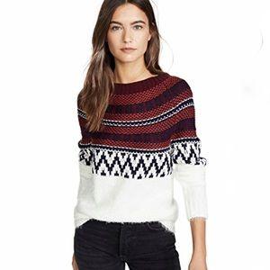 BB Dakota Play Fair Isle Ivory Sweater